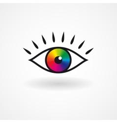 Colorful eye icon vector image vector image