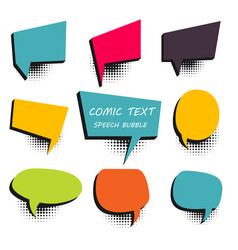 Comic colored text speech bubble 9 vector