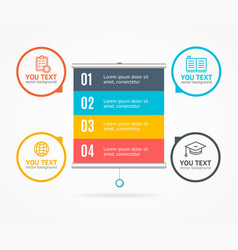 Concept of business infographic option banner card vector