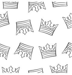 crown theme design pattern collection vector image
