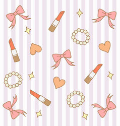 Cute pink pastel girly background 3 vector
