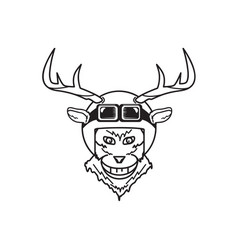 deer with helmet vector image
