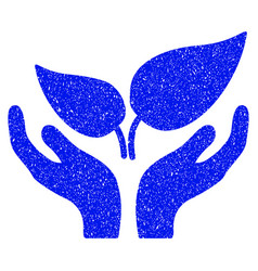 Eco startup grunge icon vector