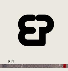 Ep logo monogram vector