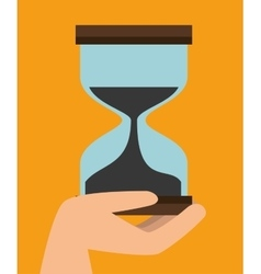 Fast delivery concept sand clock time icon graphic vector