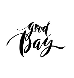 Good day card vector image