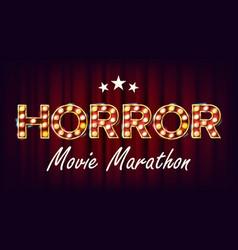 Horror movie marathon background cinema vector