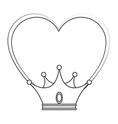 King crown luxury symbol vector