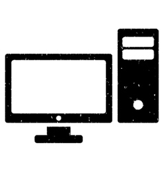 Personal computer grainy texture icon vector