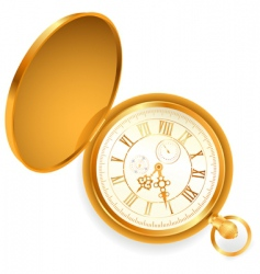 pocket clock vector image vector image