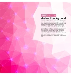 Polygonal abstract pink back for presentation vector