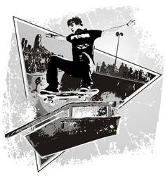 Slide Skater vector image