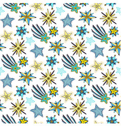 Stars seamless pattern childish background for vector