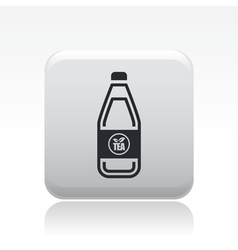 tea bottle icon vector image
