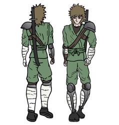 Walk two ninja vector