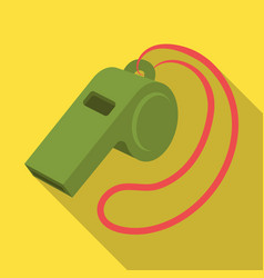 Whistle football fanfans single icon in flat vector