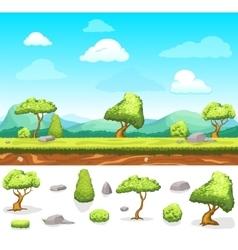 Summer Game Design Landscape vector image
