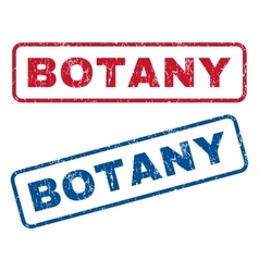 Botany rubber stamps vector