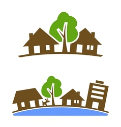 Neighbourhood icon vector