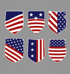 american shields vector image