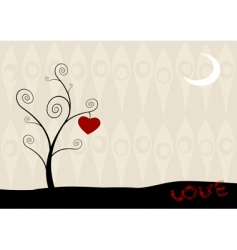 hanging heart vector image