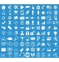 Webdesign icon set blue vector