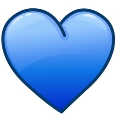 Blue heart icon vector