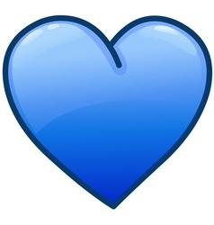 blue heart icon vector image