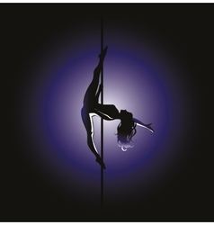 Pole dance kim position vector