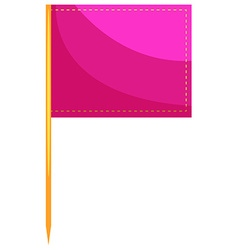 Square flag in pink color vector