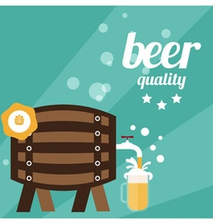 Flat design of beer theme vector