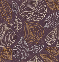 Seamless pattern with leaves - vector