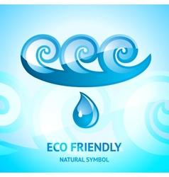Water natural symbol vector