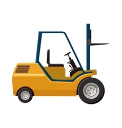 Stacker loader icon cartoon style vector