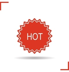 Hot badge red icon vector