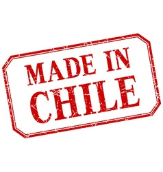 Chile - made in red vintage isolated label vector