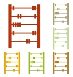 Retro abacus sign vector
