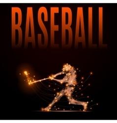polygonal baseball player vector image