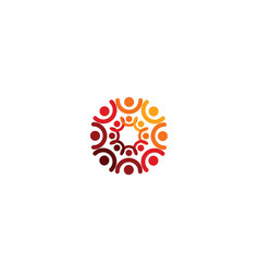 abstract logo depicting the stylized people vector image