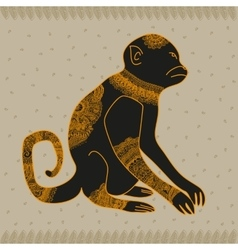 Anima monkey cool vector