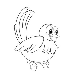 Animal outline for little bird vector