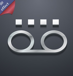 audio cassette icon symbol 3D style Trendy modern vector image vector image