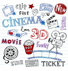 Cinema doodles vector