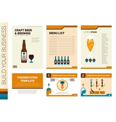Craft beer book cover and presentation template vector image vector image