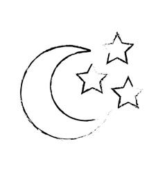 crescent moon icon image vector image