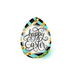Cute luxury happy easter vector