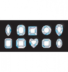 Diamond cuts and shapes vector
