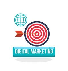digital marketing design ecommerce icon isolated vector image
