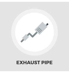 Exhaust pipe flat icon vector