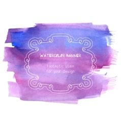 Hand drawn abstract watercolor background vector image